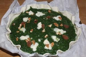 tarte épinards et gorgonzola