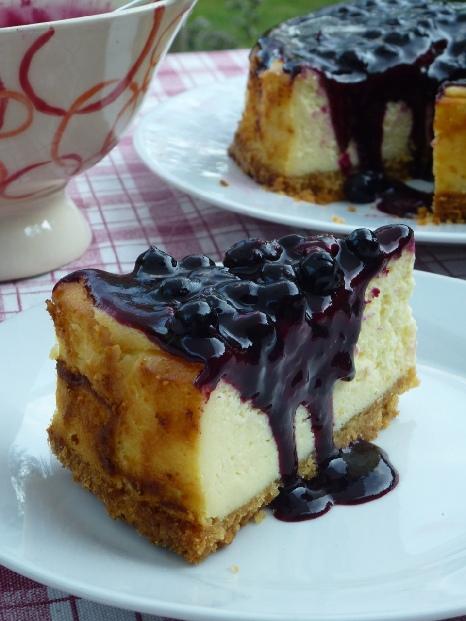 portion de cheese cake